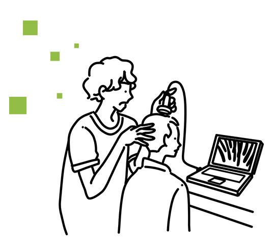 頭皮診断 写真撮影(マイクロスコープ)